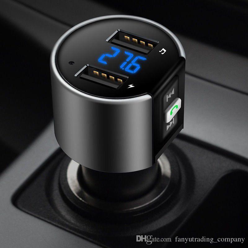 Novo de alta qualidade sem fio no carro bluetooth transmissor fm adaptador de rádio kit carro preto mp3 player usb carga usb dhl ups frete grátis mais