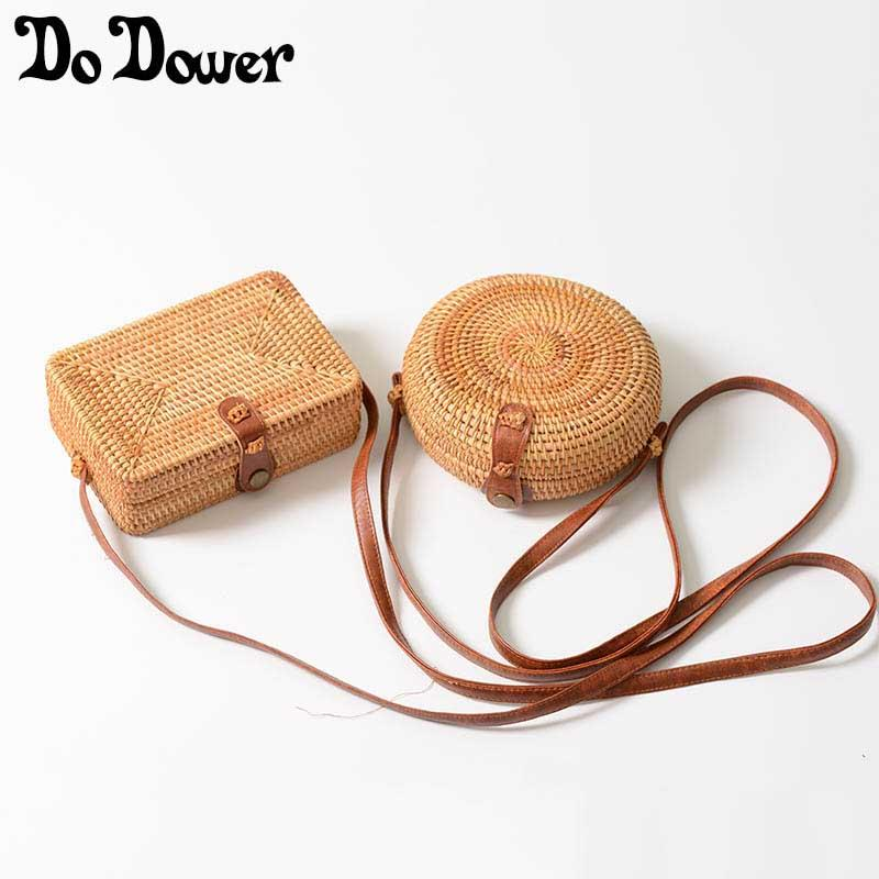 2018 Summer Bali Handmade Rattan Bag Woven Round Straw Bag Women Vintage  Retro Straw Square Box Lady Beach Shoulder Clutch Bags Beach Bags From  Walmartstore ... c511b2595d7a6
