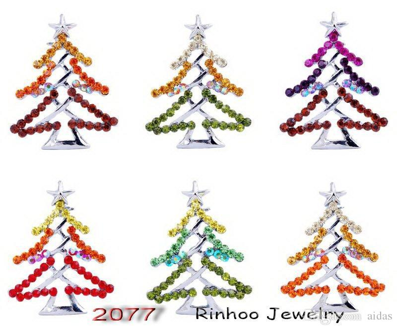 wholesale christmas tree crystal plant smalljpg - Silver Plated Christmas Tree Decorations