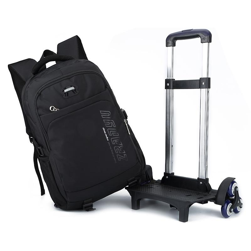 37929f82fbd6 Rolling Backpack On Wheels Boy S Trolley School Bags Children S Travel  Luggage Bag School Backpacks Detachable Student Bookbag Rolling Backpacks  On Sale ...
