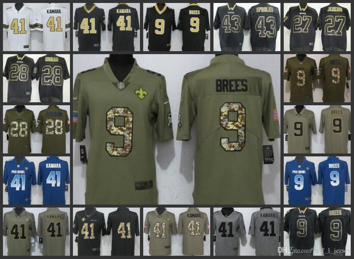 New Orleans Saints Embroidery Man Jersey  9 Drew Brees 41 Alvin Kamara 28  Adrian Peterson Women Youth Football Jerseys Online with  27.22 Piece on ... 1e0df48bf