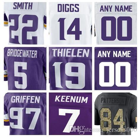 2018 Minnesota Stefon Diggs Vikings Jersey Custom Dalvin Cook Teddy  Bridgewater Authentic Sports Youth Kids American Football Jerseys Cheap  Youth From Us777 ... d34c24964