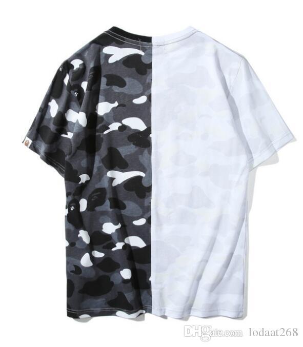 Hommes Femmes Sportwear T-shirts Pull Jogger Survêtement coton ras du cou des oiseaux OVO Drake noir Hip Hop T arrive en tête patchw imprimé bouche Shark