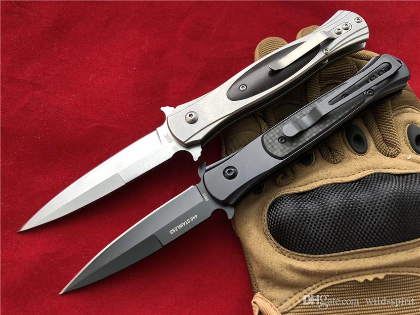 SOG D25 G707 Auto cuchillos plegables 8Cr14Mov Daga de acero Cocobolo / fibra de carbono Mango Auto EDC Tactical gear Herramientas de bolsillo knifes