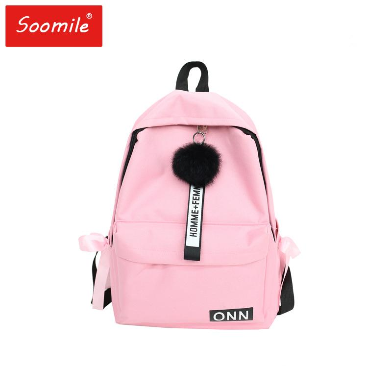 0ae77883e37 Soomile Travel Shoulder Bag Backpack Women Fashion Backbags For Teenage  Girls Gray/Black Rucksacks Backpack Female School Bags