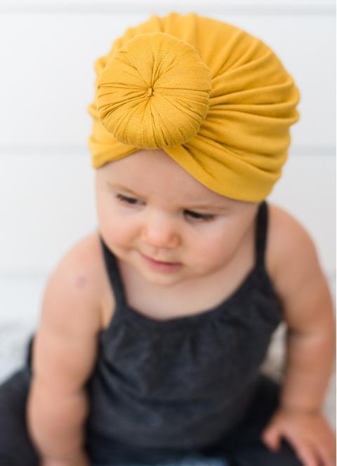 Mode nettes Säuglingsbaby scherzt Kleinkind-Kinderunisexkugel-Knoten-indischer Turban-bunter Frühlings-netter Baby-Krapfen-Hut Normallack-Baumwollhaarban