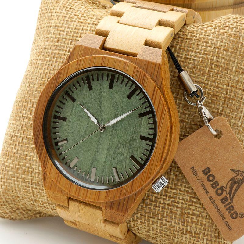 Grosshandel Bobo Bird Uhren Herren Bambus Holz Armbanduhr