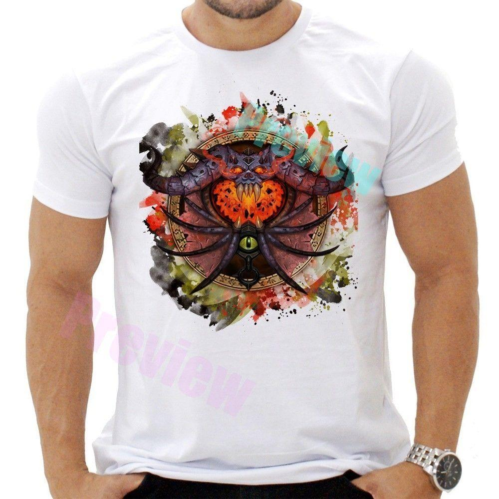 f996ce65e529 Warlock World Of WoW T Shirt Unisex Video Game Tee Cotton Quality X23 Mens  2018 Fashionable Brand 100%cotton Tops Wholesale Tee Quirky T Shirt Designs  ...