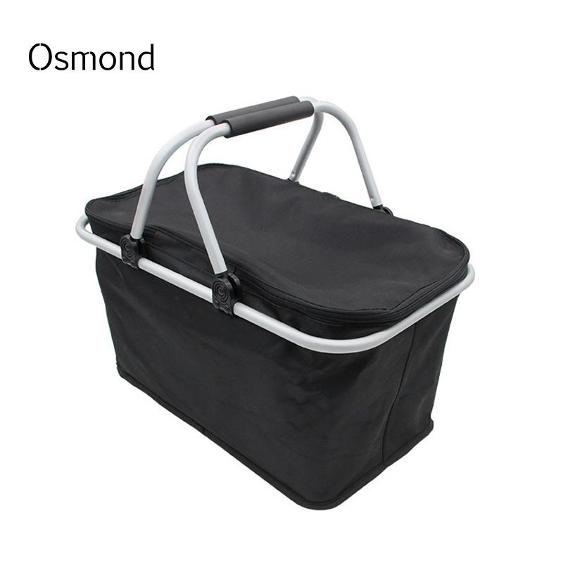 626ff4f7010 Osmond Black Foldable Shopping Bags Large Supermarket Bag Eco Friendly  Reusable Grocery Bags Folding Shopper Totes Trolley Cases Purses For Cheap  Recycled ...