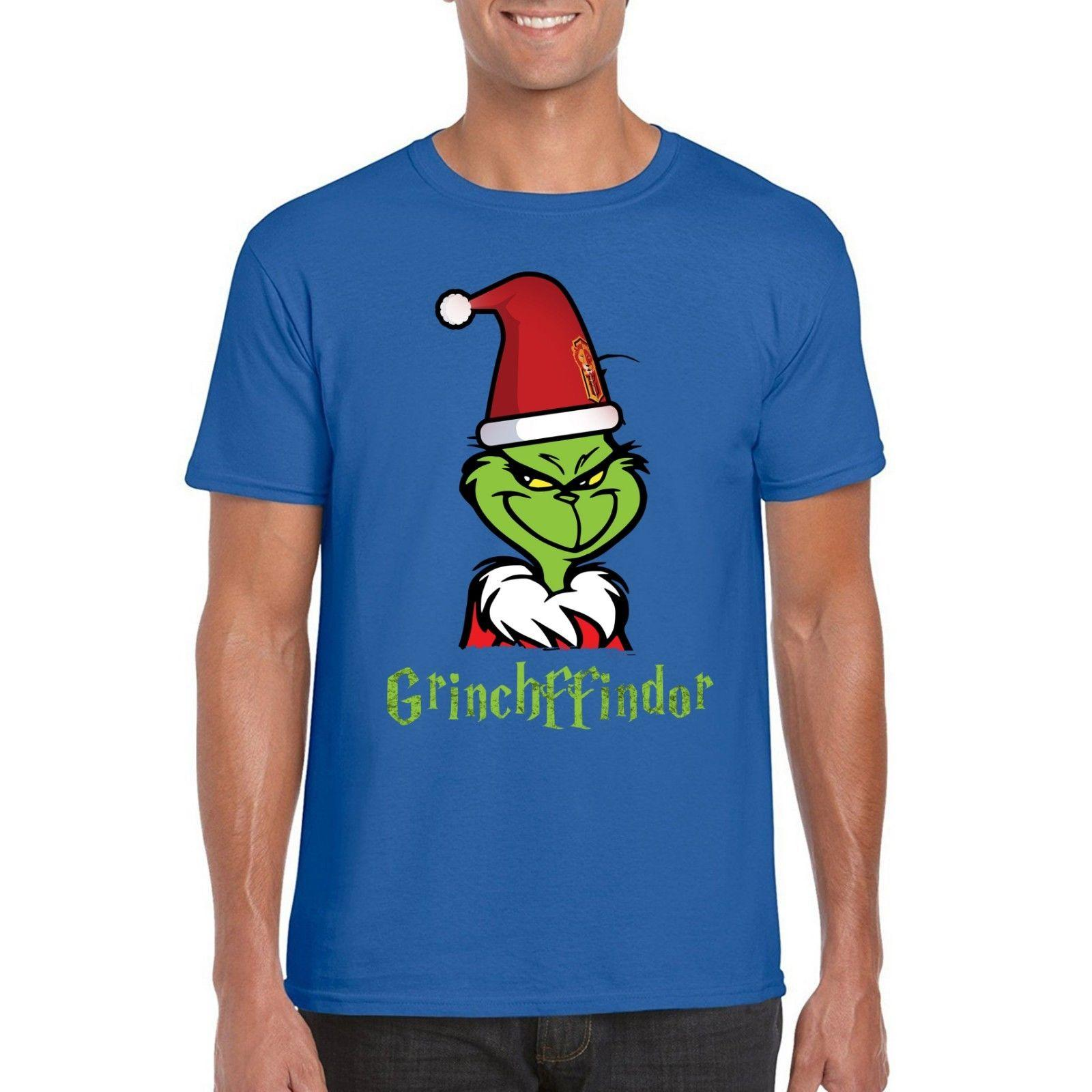 Harry Potter Christmas Shirt.Grinchffindor Christmas T Shirt Harry Potter Grinch Festive Parody Tee Top Funny Free Shipping Unisex Gift
