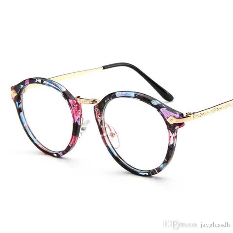 Cute Style Vintage Glasses Women Glasses Frame Round Eyeglasses Frame  Optical Frame Glasses Retro Oculos Femininos Gafas Wiley X Sunglasses  Mirror ... fbae3d81a8