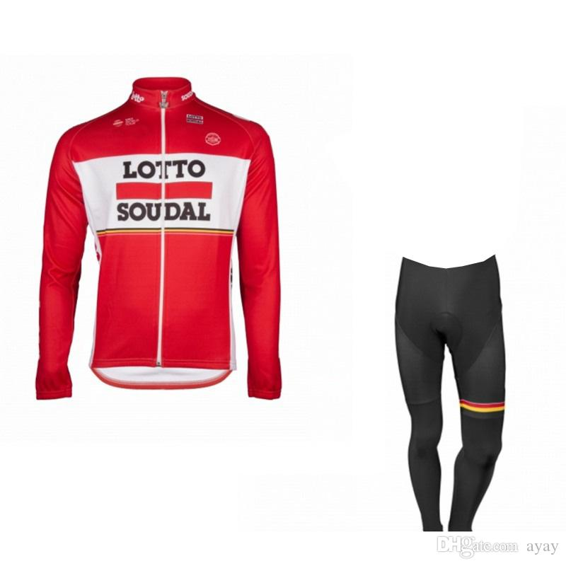 Winter Fleece Pro Team Lotto Soudal Red Cycling Jersey Set Long Sleeve  Warmer Bike Clothing MTB Ropa Ciclismo Bicycle Maillot Jersey Set Cycling  Jersey Men ... 6dc17fe96