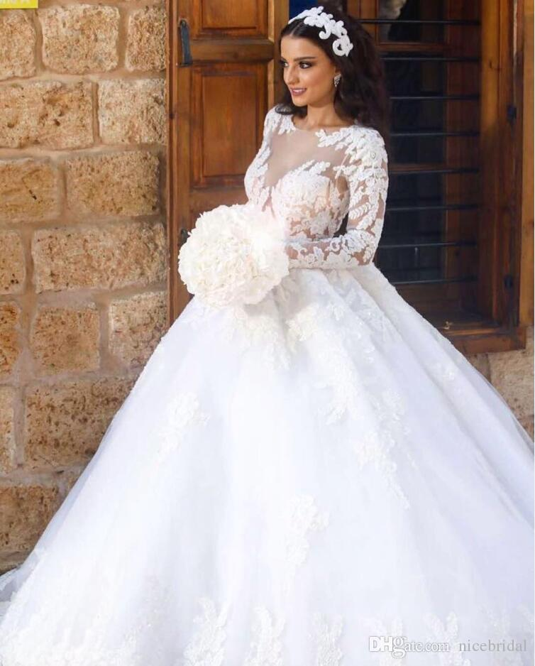 Wedding Dresses 2018 Couture Ball Gowns Elegant Royal: Plus Size Lace Ball Gowns Wedding Dresses For Women Puffy