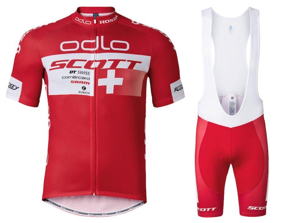 Hot Sale Scott ODLO Short Sleeves Cycling Jersey Set Summer Men MTB ... f3cadb8d7