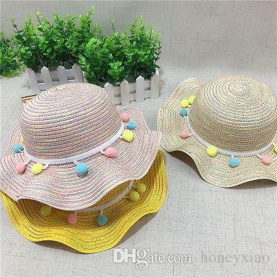 2018 Summer Fashion New Little Girl Princess Hat Girl 2-6 Years Old Shade  Sunscreen Beach Hat Women s Po Han Edition Hat New Little Girl Hat Summer  Hat ... a7944dfb1b1