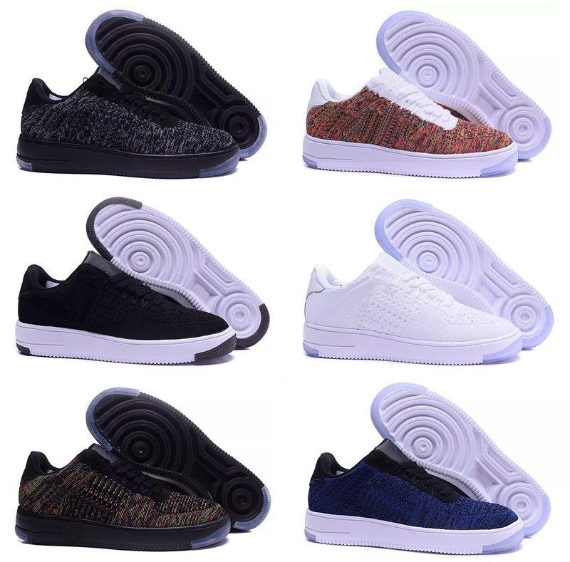 8f1a7843548 Compre Nike Air Force Flyknit One 1 NUEVA Y De Alta Calidad NUEVA Moda De  Hombre Las Zapatillas De Correr Blancas Y Bajas Altas Zapatillas De Skate  ...