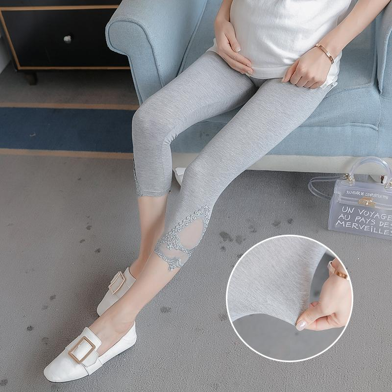 30ca4c404d23b 2019 Lace Patchwork Modal Maternity Legging Summer Fashion Skinny Capris  Clothes For Pregnant Women Slim Pregnancy Belly Bottom From Mingway245, ...