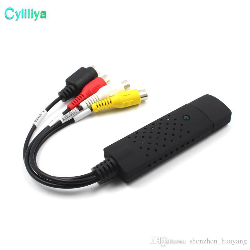 Hohe Qualität 64Bit Unterstützung Einfache Kappe USB 2.0 Video Audio VHS zu DVD Konverter CVBS S-VIDEO Capture Card Adapter