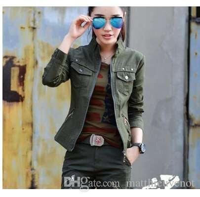 83461fc310 Bomber Military Jacket Women Fashion Spring Autumn Vintage Coats Jaqueta  Feminina Plus Size 3XL Camouflage Women Jackets Sweater Jacket Sports  Jackets From ...