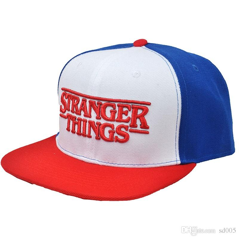 ca530848b7c Fashion Visor Hat Movie Stranger Things Baseball Cap Adjustable Summer  Leisure Adult Hip Hop Hats Unisex Gift 19mm C The Game Hats Baby Caps From  Sd005