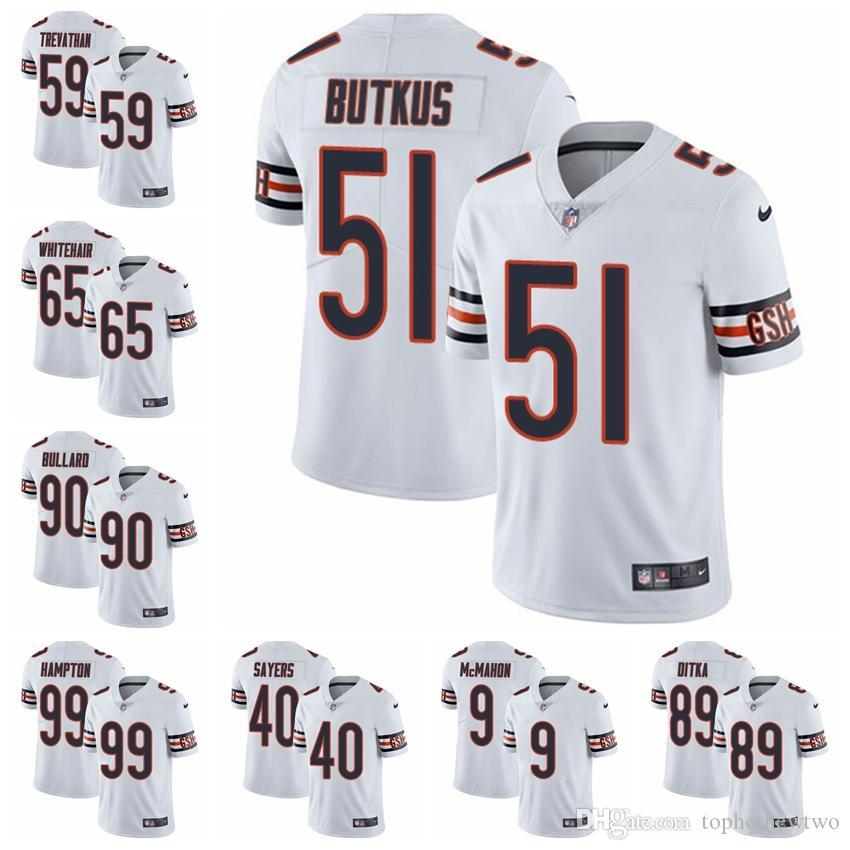 hot sales fb5e0 c1c01 Chicago Limited Road football Jersey Bears White Vapor Untouchable 52  Khalil Mack 10 Mitchell Trubisky 54 Brian Urlacher 18