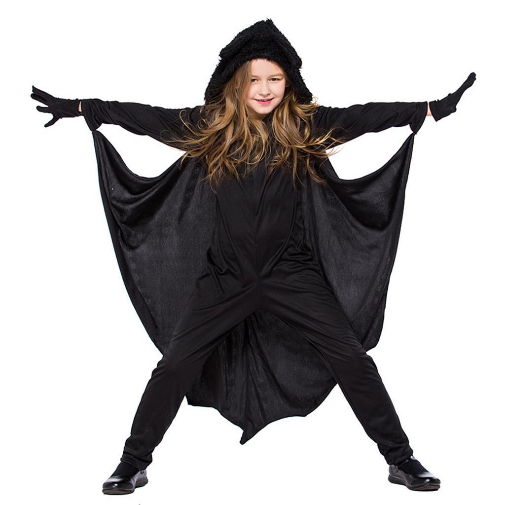 2018 kids bat halloween costume spandex hooded jumpsuit with wing girls boys from stripe 3358 dhgatecom