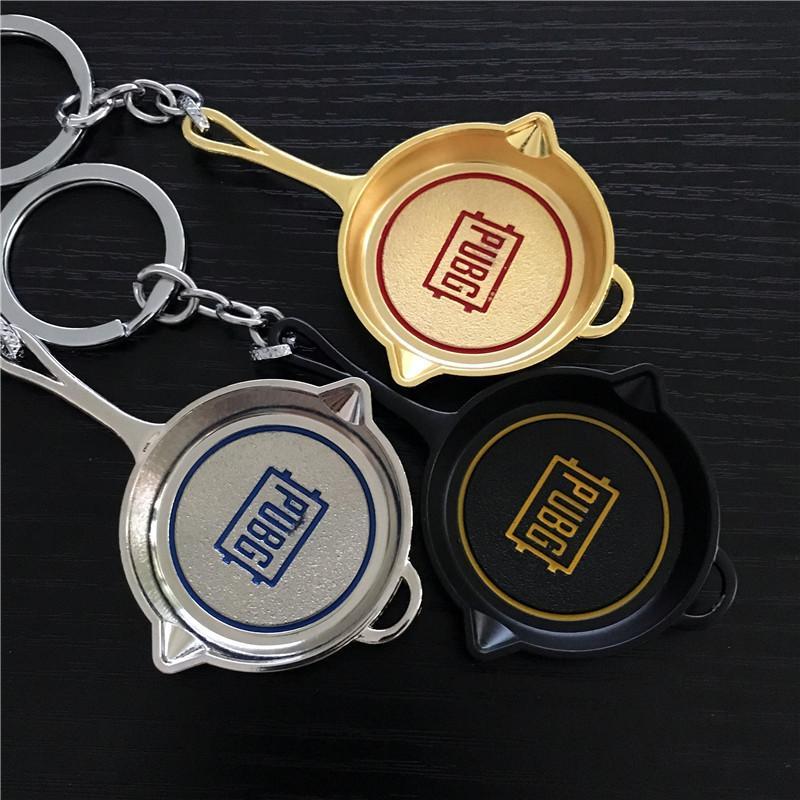 Grosshandel 2018 Neue Ankunft Spiel Pubg Logo Pan Keychain