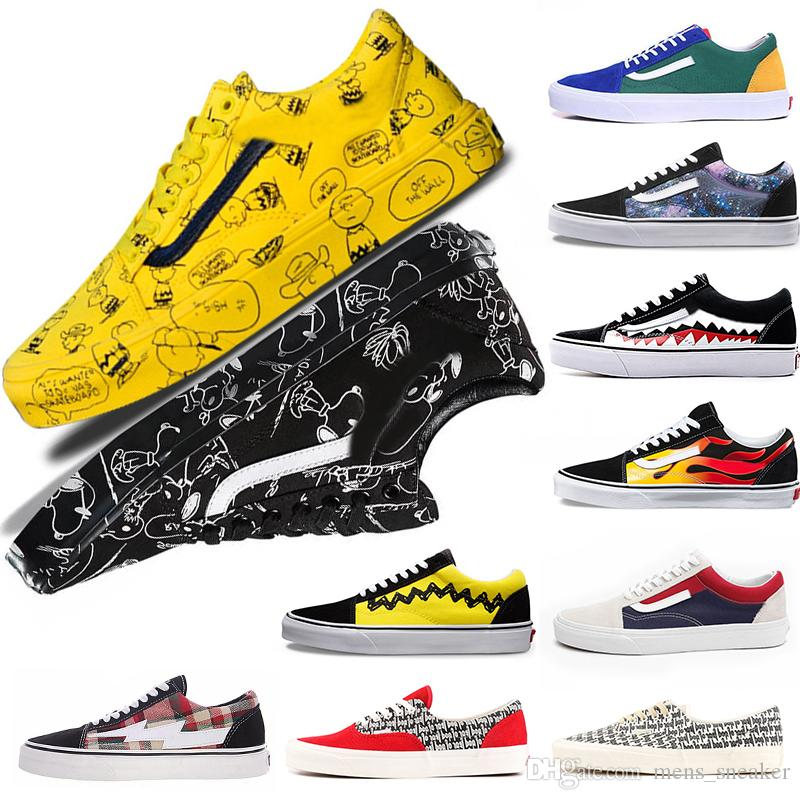 Acquista Off White CONVERSE VANS Shoes Moda A Buon Mercato VANSVault X  Peanuts Old Skool 2018 New Authentic Sk8 Hi Mens Scarpe Sportive Di Design  Uomo ... 7d0af7002ab