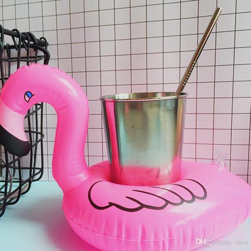 نفخ فلامنغو المشروبات حامل الكأس يطفو شريط الوقايات أجهزة تعويم حمام الطفل لعبة صغيرة الحجم حار بيع