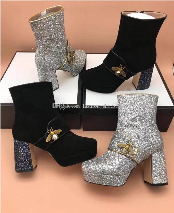 Compre Nova Marca De Luxo De Moda De Alta Qualidade De Couro E Solas Resistentes  Confortável Respirável Lazer Senhora Ma Ding Designer Botas Sapatos 39 40  ... edcd87a88e8