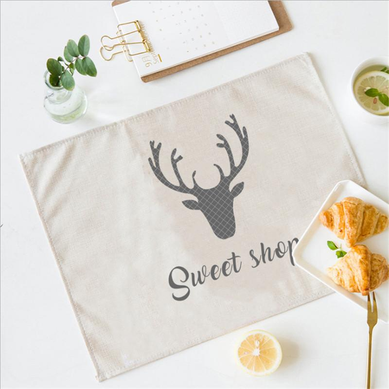 2018 Nordic Antler Placemat For Individual Dining Table Mat Home Decoration Kitchen Accessories Modern Stand Under Hot The Cup Pads From Jiguan