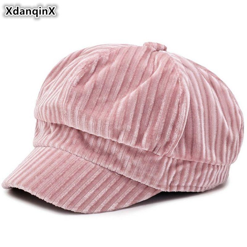 50332d544aa 2019 XdanqinX Snapback Cap Autumn Winter Women S Hat Elegant Newsboy Caps  Trendy British Joker Foldable Beret Brands Hats For Women From Henrye