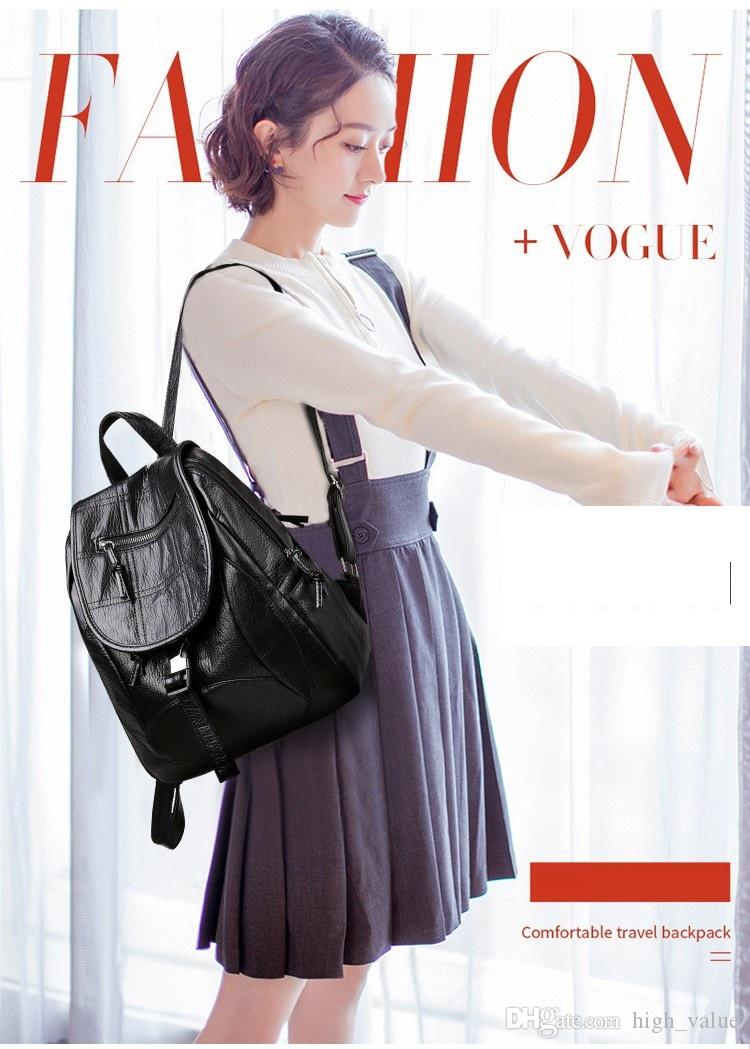 Real Rushed Black Backpack Style Luxury Travelling Retro Bag Leather ... 949e0916f7