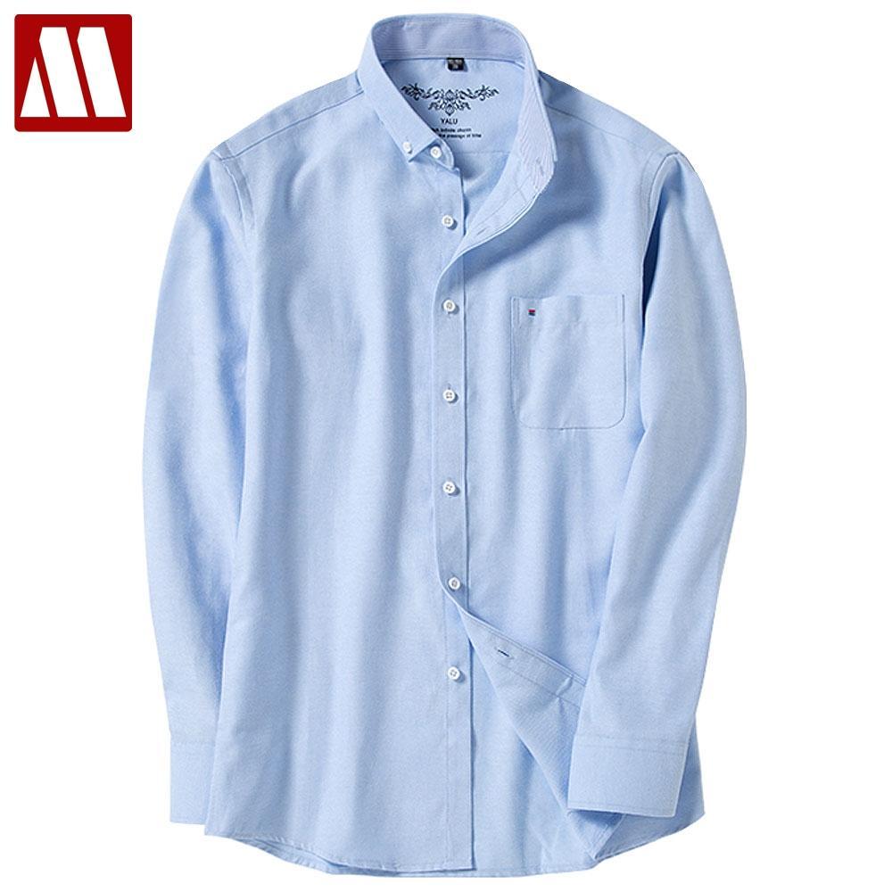 78b043377e5 2019 New Spring Plus Size Oxford Shirt Man Casual Shirts Long Sleeve ...