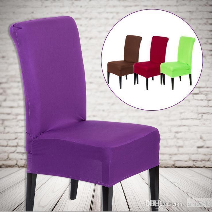 20 Cores Sólidas Poliéster Spandex Cadeira De Jantar Cobre Para Tampa Da Cadeira Do Partido Do Casamento Marrom Cadeira De Jantar Cobre C175