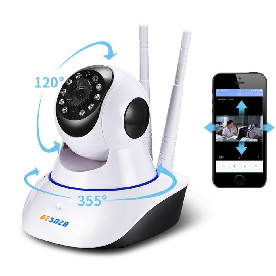 BESDER Baby Monitor Yoosee 1MP Wifi IP Camera Two-way Audio Pan Tilt ONVIF  P2P Alarm CCTV Home Security Camera 64G SD Card Slot