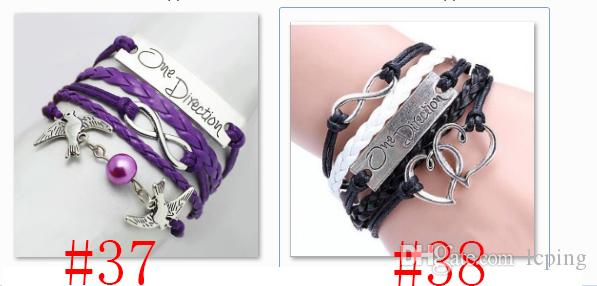 Infinity bracelets HI-Q Jewelry fashion Mixed Infinity Charm Bracelets Silver Style pick for fashion people Charm Pearl Bracelets