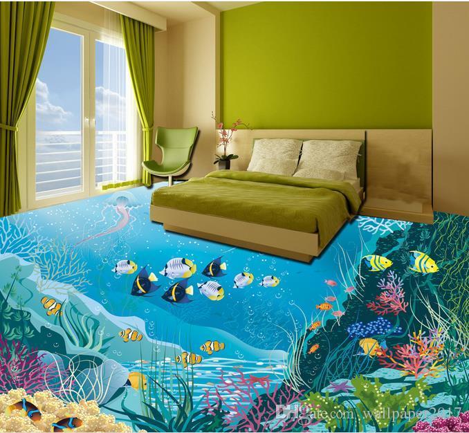 3d floor wallpaper underwater world floor painting floor wallpaper for kids room hd free. Black Bedroom Furniture Sets. Home Design Ideas