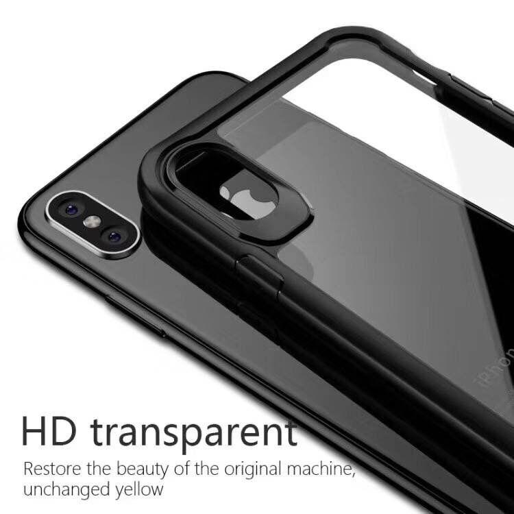 Ударопрочный прозрачный чехол для iPhone XR Xs XS Max 8 Plus PC ТПУ Case броня Hybird ясно задняя крышка для Samsung S8 S9Plus