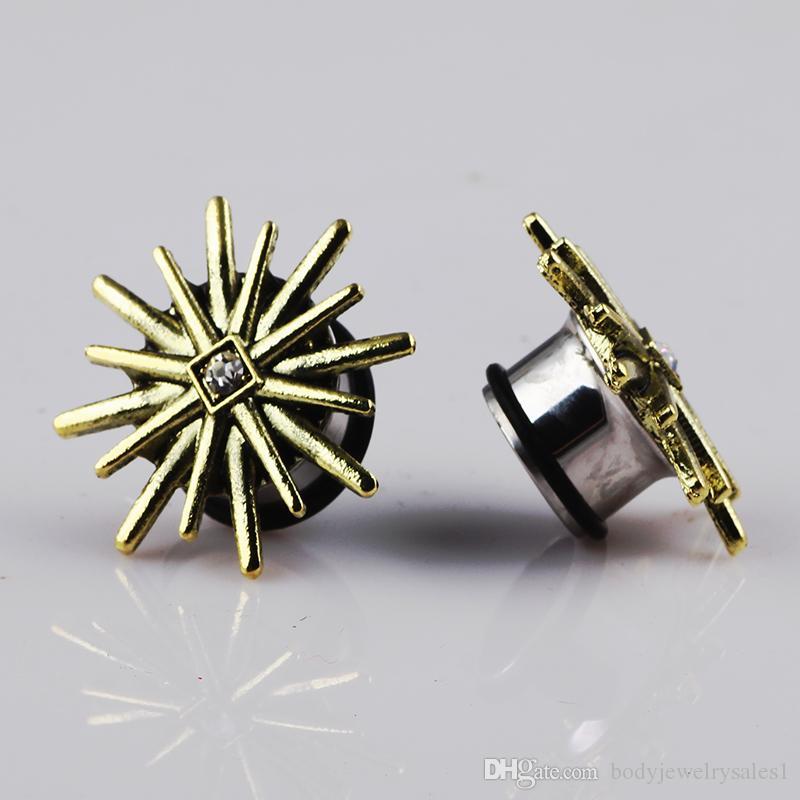 Ear Expander Body Piercing Jóias Aço Inoxidável Único Flare Flesh Túnel Ear Plugs Expander 6-16mm Maca de Orelha