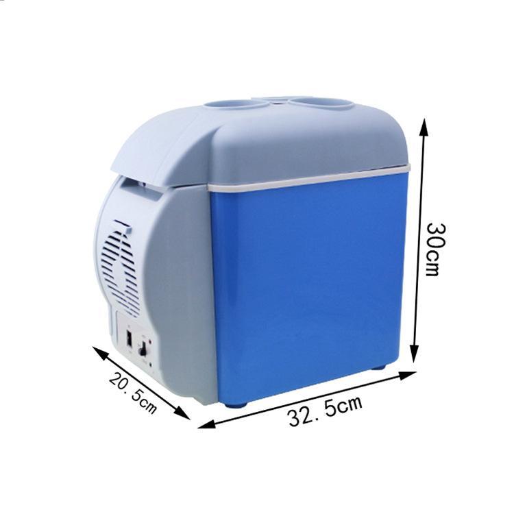 Verão Ao Ar Livre Portátil Multifuncional Mini Carro Refrigerador-Warmer Fishining Picnic Baldes de Gelo Poupança Ice Cube Maker 12 V 7.5 L
