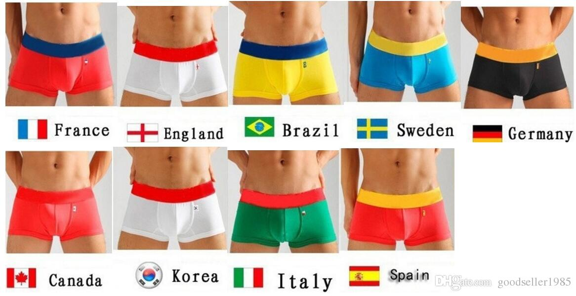 197839c23b5e 2019 100% Famous Brand Country Flag Boxer Men Shorts Cotton Sexy Male  Underwear Top Quality Original Designer Underpants For Men From  Goodseller1985, ...