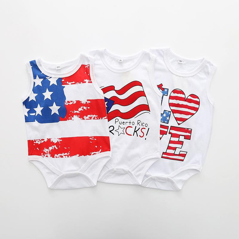 9eb41e107 Baby Romper Summer Baby Girls Clothing US 4th of July Kids Boy ...