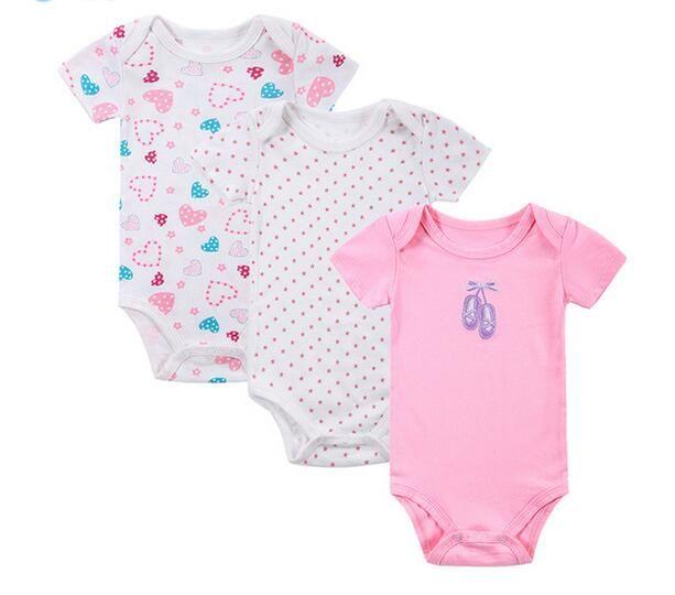 e8027fb6e2be Newborn Cotton Body Baby Short Sleeve Underwear Infant Boy Girl ...