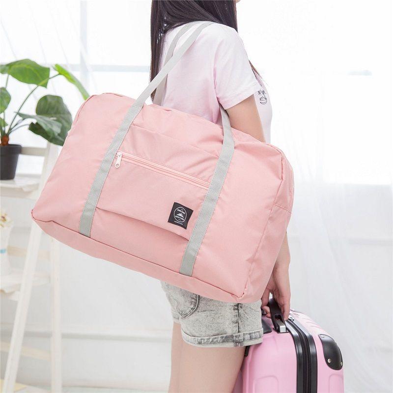 Female Travel Gym Bag Folding Portable Duffel Storage Women Fitness  Shoulder Bag Yoga Mat Waterproof Handbag Travel Sport Bags Y1890402 Online  with ... 923b97ed91d87