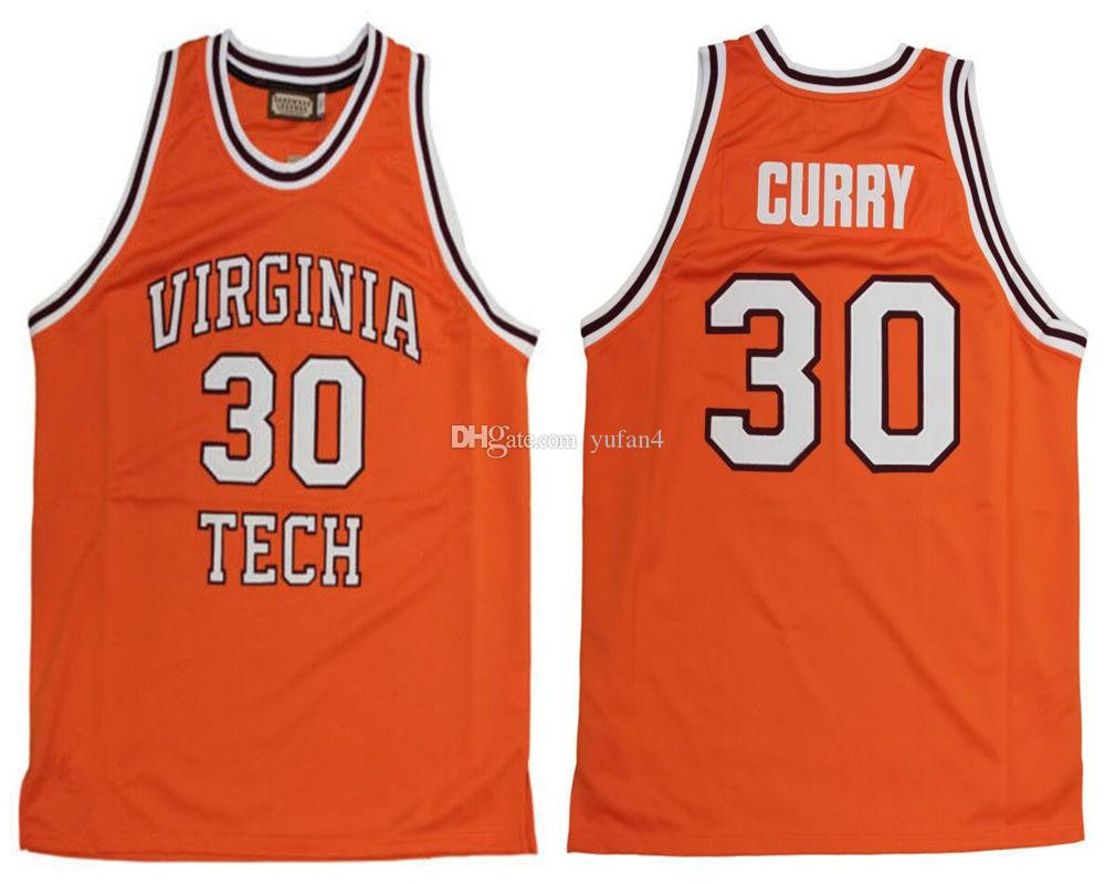 7882f57efe6a 2019  30 Dell Curry Virginia Tech University Hokies College Retro Classic Basketball  Jersey Mens Stitched Custom Number And Name Jerseys From Yufan4