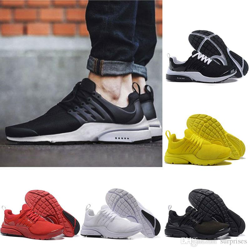 presto BR QS Breathe Yellow Black White Mens prestos Shoes Sneakers Women,Running Shoes For Men Sports Shoe,Walking designer shoes 36 46