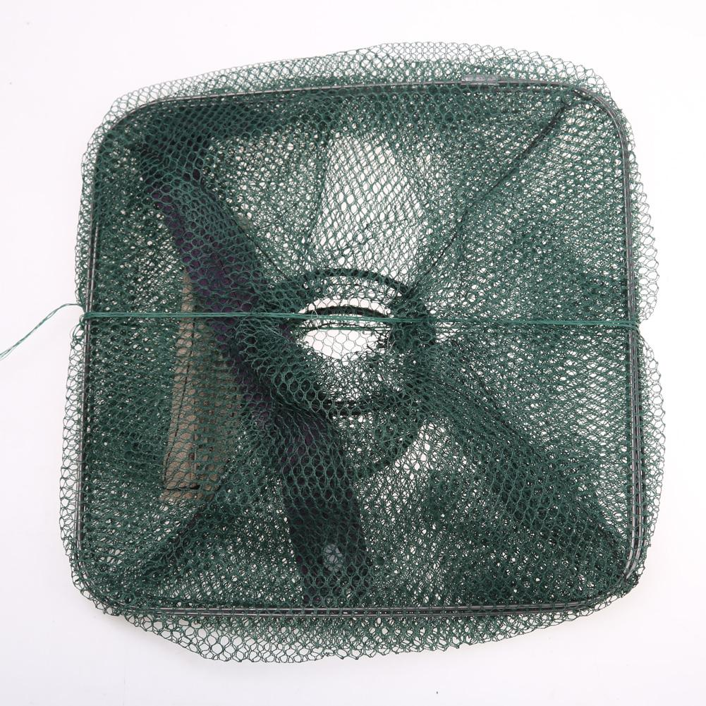 Folding Fishing Net For Crab Shrimp Minnow Fishing Bait Trap Cast Dip Net Nylon Network Cage Fishing Tool Tackle Pesca