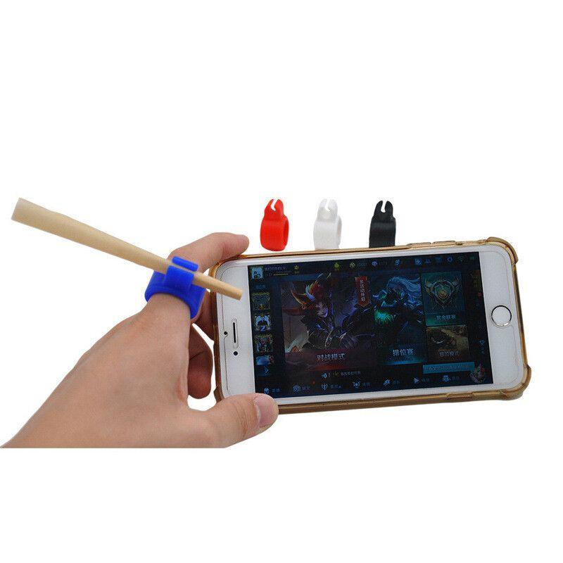 Sigara Yüzükler Silikon Sigara Duman Halka Stent Tütün Ortak Tutucu Düzenli Boyutu Için Parmak Koruyucu 7-8mm Sigara Araçları DHL