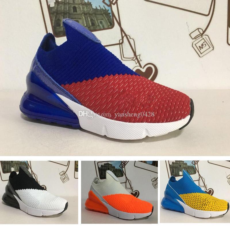 reputable site 5bf4e 09d81 Acheter Nike Air Max 270 27c Livraison Gratuite Qualité Enfants 270 Sport  Casual Chaussures Tiger Orange Noir Rouge Flair Triple Blanc Noir Kpu  Entraîneur ...